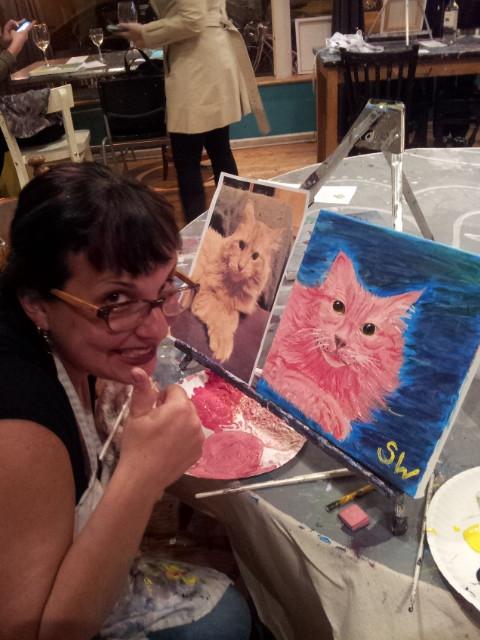 Sara's painting of Bob.